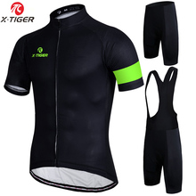 X-Tiger Simple 7 Colors Cycling Jersey Set Summer Bike Clothes Mans Summer Bicycle Clothing Maillot Ropa Ciclismo Cycling Set(China)