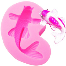 M440 Fondant Chocolate Pudding Silicone Mold Goldfish Shape Fish 3D Silicone Cooking Tool Cake tools Mold Cake Tool7.4*4.2*2.2CM(China)