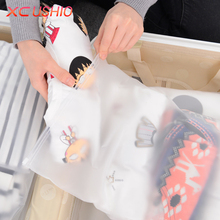 4pcs/lot Thicken Travel Storage Bag Organizer Cosmetic Shoe Clothes Clothing Underwear Storage Bag Clear Seal Ziplock Bag Case