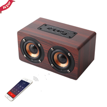 ADDKEY Desktop hoparlor Retro Wood Bluetooth Speaker portatil Sound Daul loudspeaker Boombox Stereo Speaker System for Notebook(China)