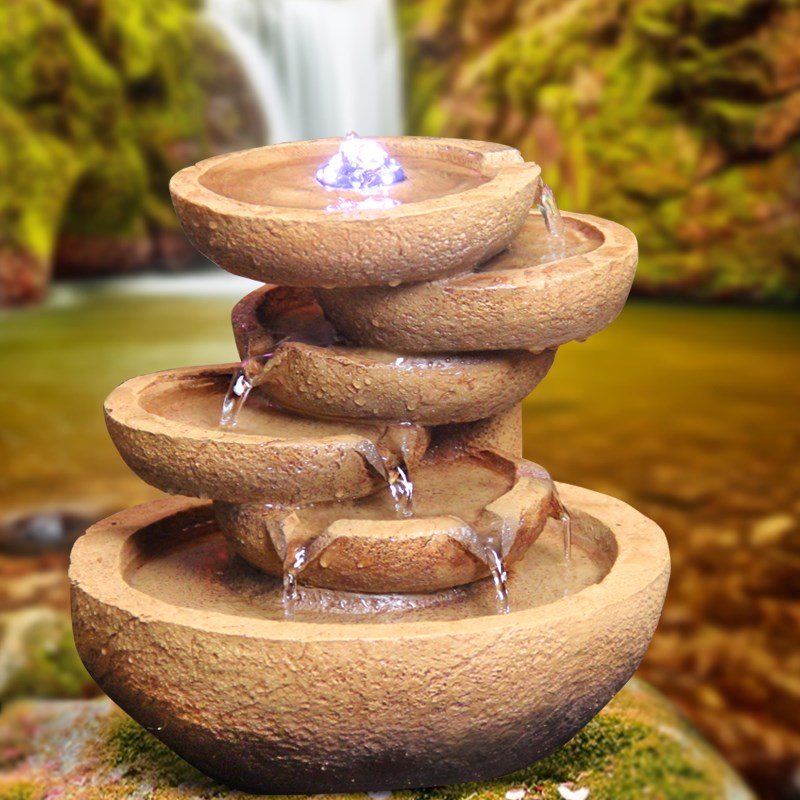Tabletop Fountains Led Triple Jug Tabletop Fountain