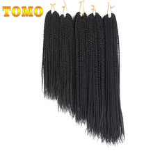 "TOMO 14"" 16"" 18"" 20"" 22"" Ombre Synthetic Crochet Braids for Braiding Hair 30strands Senegalese Twist Crochet Hair Extensions(China)"