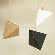 50pcs Kraft Paper Favor Box Creative Trigonometry Gift Packing Box Jewelry Box for wedding event party supplies
