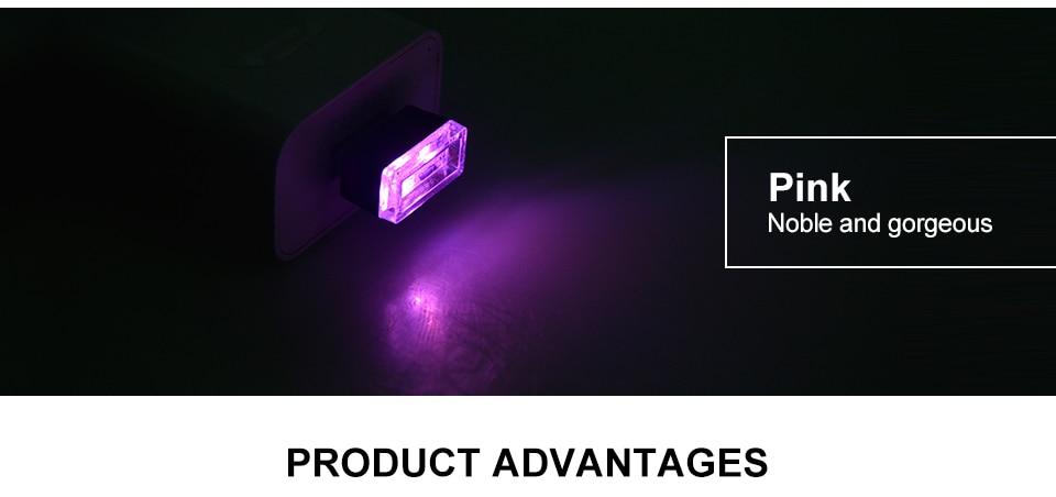 Mini Wireless Car Atmosphere Light LED USB Night Light Cigarette Lighter Decorative Lights Car Styling Truck PC Laptops Kit (7)