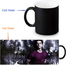 Beautiful Dylan O'Brien Magic Color Changing Coffee Mug Morphing Milk Mugs 350ml/12oz Tea Mug Halloween Gift(China)