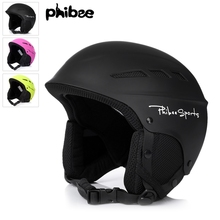 Phibee Sports Safety Ski Helmets High Quality 3 Colors Adult Snow Sports Helmet Professional Skating Skateboard Helmet S-L Size