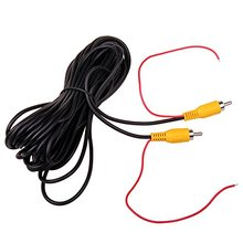 Car RCA Reverse Rear View Parking Camera Video Extension Cable + Detection Wire Reverse Red Trigger Lead (10 Meters/32FT)