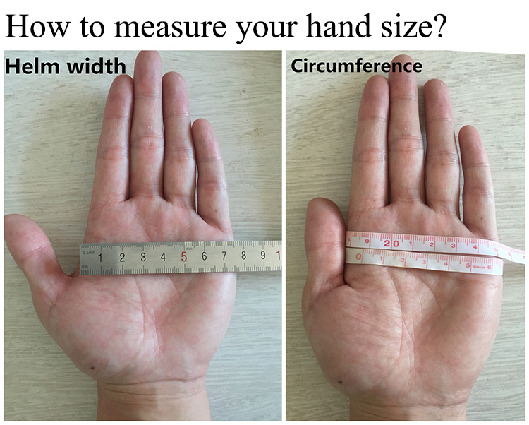 How to measure your hand size