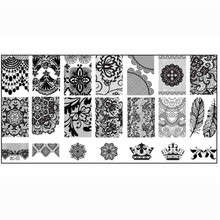 2017 New Women 1Pcs Template Nail Stamping Printing Templates Flower Feather Image Plate Print Nail Art DIY Hot Comestic Tools
