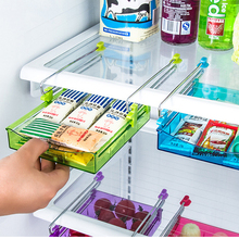 Universal Creative Fridge Storage Rack Layer Partition Refrigerator Storage Holder Pull-out Drawer Organizer Kitchen Shelf Rack