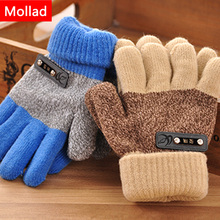 Mollad 2017 New boy fingers gloves child warm gloves boy fingers glove student double thick gloves(China)