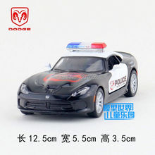 KINSMART Die-Cast Metal Model/1:36 Scale/Dodge 2013 SRT Viper GTS Police toy/Pull Back Car for children's gifts or collection