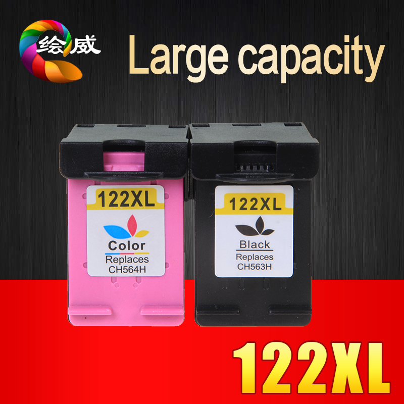 2pcs Ink Cartridge Compatible for HP 122 XL  for HP Deskjet 1000 1050 2000 2050 2050s 3000 3050A 3052A 1010 1510 2540 Printer<br><br>Aliexpress