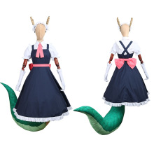 CGCOS Miss Kobayashi's Dragon Maid Tohru Uniform Dresses Horn Tail Anime Game Cosplay Costume Halloween Christmas Full set New