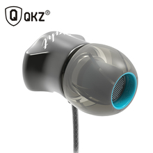 Earphone QKZ-X10 Zinc Alloy Noise Cancelling Headsets DJ In Ear Earphones HiFi Ear Phone Metallic Earbuds Stereo in-Ear Earphone(China)