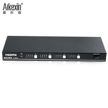 Aikexin 4x4 HDMI Matrix Switch Switcher Splitter 4 In 4 Out V1.3 with IR Remote Control 1080P