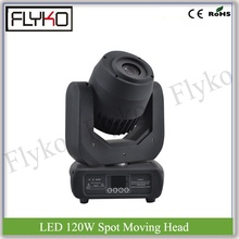 DJ stage effect dj equipment 7 gobos spot moving head light with 7colors LED 120W for tv big show(China)