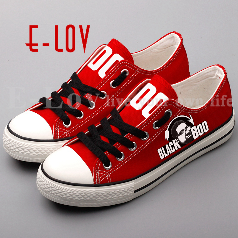 E-LOV New Arrival Canvas Shoes Printed A Madea Halloween Casual Shoes Low Top Leisure Shoes Espadrilles For Couples<br>