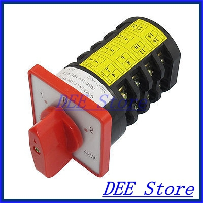 AC 380V 20A 1-0-2 Position 16 Terminal Locking Cam Combination Changeover Switch<br><br>Aliexpress