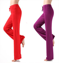 Women casual harem pants high waist pants dance club wide leg loose long bloomers trousers plus size