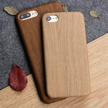 For iPhone 8 Plus X Case Newest Brown Wooden Bamboo Soft TPU Case For Apple iPhone 6 6S 7 Plus 5 5S SE Slim Protective Cover Bag(China)