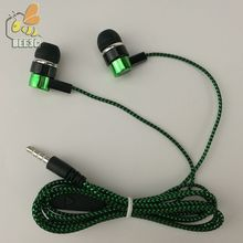 common cheap Clearance sale serpentine braid cable headset earphones headphone earcup direct manufacturer sell blue green 300pcs