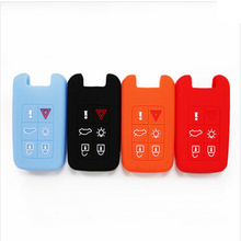 For Volvo V40 S80 XC60 S60L V60 Silicone Car Key Cover Cars Keys Case 6 Buttons Smart Car KeyAuto Accessories Hot Sale 1pc