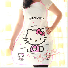 hello kitty/Doraemon cute CHEAP PE Waterproof Apron sleeveless