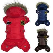 Best Selling Dog Puppy Warm Winter Jacket Coat USA AIR FORCE Waterproof Clothes Pets Animals Cat Hoody Clothes Jumpsuit Pants(China)