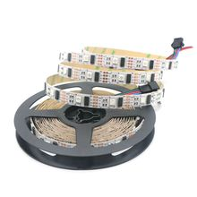 Non waterproof IP20 White PCB 5M/ROLL 32 Pixels WS2801 5050 RGB Dream Color LED Strip Addressable