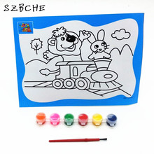 Paints watercolor pen baby child suit washable, non-toxic paint graffiti painting watercolor Toys 26 * 19CM