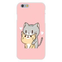 Cat On Photo Copy Custom Hard Soft TPU Silicon Cute Phone Cases Customize For Apple iPhone 4 4S 5 5C SE 6 6S 7 7S Plus 4.7 5.5