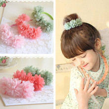 3 Pcs/lot Multi-layer Flower Elastic Hair Bands Girls' Hair Clips Kids Hair Accessories(China)