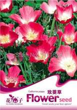 (Mix minimum order $5)1 original pack 50 pcs Garden Flower California Flower Eschscholtzia free shipping