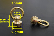 Free shipping 5 sets pure brass screw,belt screw diy leather craft rotate screw,Solid bag buckle screws,bag fasteners