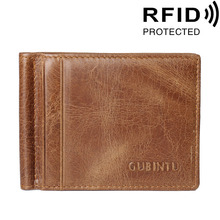 Buy Brand Genuine Leather Men Women's Money Clips Wallet Cash Dollar Clamp Purse RFID Protected Multi-function for $9.27 in AliExpress store