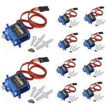 10pcs/lot TowerPro SG90 Micro Servo motor 9g Torque 1.8kg for RC Aeromodelling Parts Trex 450 RC Helicopter Helikopter Airplane