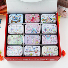 Fairy Tale Macaron Tin Box 36piece/Lot Metal Mac Cosmetics Organizer Tea Box Candy Biscuit Cookies Container Wedding Favor