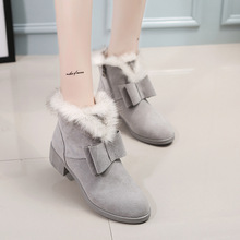 2016 New Arrivals Women Winter Boots Fashion Ladies Ankle Boots Sexy Boots Female Warm Plush Flats Brand Cheap Boots Shoes 915