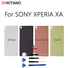 "For SONY XPERIA XA Back Battery Cover Door Rear Housing Case Chassis Replacement Parts+Tools For 5.0"" SONY XA Battery Cover(China)"