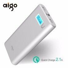 Aigo 20000mAh Large Capacity Fast Charging Power Bank LCD External Battery Backup Portable Dual USB Powerbank
