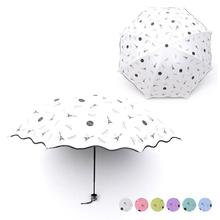 Paris Towers Printing Anti-Uv Small Umbrella Folding Sun Umbrella Outdoor Windproof Art Umbrella Rain Women 3