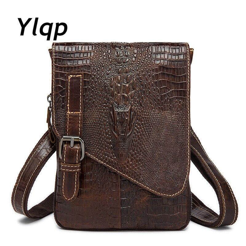 2017 Man Genuine Leather Messenger Bag, Male Cross Body Shoulder Bag, Mens Travel Bag Coffee Handbags Men Brand Business Bag<br>