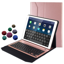 7 Colors LED Backlit Aluminum Metal Wireless Bluetooth Keyboard For Apple iPad Pro 12.9 inch Tablet Keyboard Case cover(China)