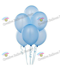 wholesale 10inch 100pcs/lot Top Pearl Round Sky blue Latex Balloons Wedding Baby Shower Birthday Decorations Toys For Kids(China)