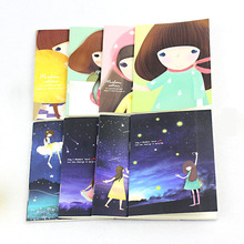 24 pieces Starry Sky Kawaii Girl Cute Mini Cookie Diary Tiny Memo Free Note Pocket Planner Notebook Gift Freeshipping(China)