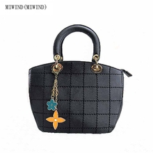 MIWIND(MIWIND)2017 women fashion handbags new  shoulder bags simple flowers girls cut Messenger bag thick line package
