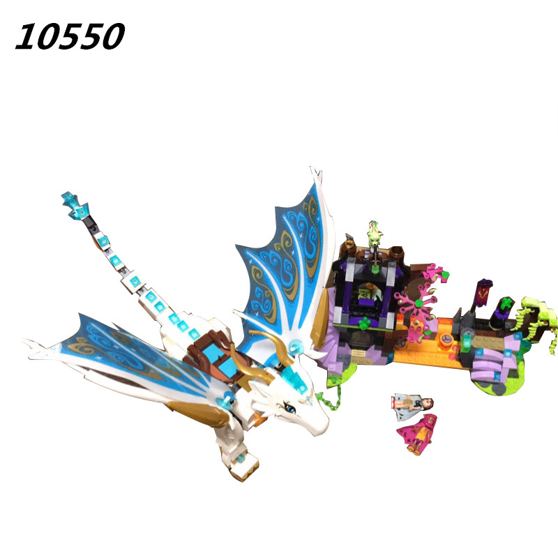 AIBOULLY Elves 10550 White Dragon The Elf Series Of Long After The Rescue Cction Blocks With 41179 Girls Assembled Block Toys<br>