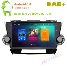 "10"" Android 6.0 Octa Core Car Raido GPS Player For Toyota highlander 2009-2013 auto multimedia Stereo NO DVD Head unit Player"