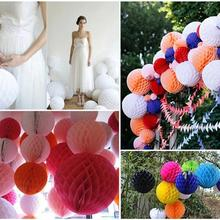 12pcs Paper Honeycomb Balls Fan Lanterns Paper Pom Poms For Birthday Wedding Party Xmas Hanging DIY Gifts Festival Decoration